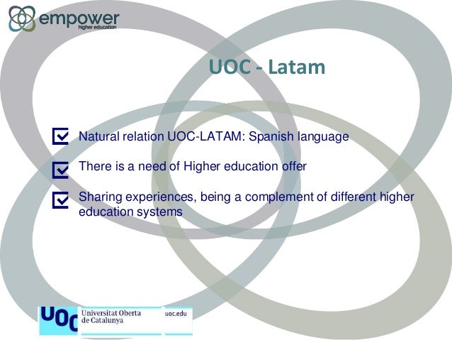 Virtual mobility in UOC Slide 2
