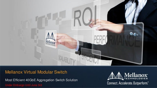 Most Efficient 40GbE Aggregation Switch SolutionUnder Embargo Until June 3rdMellanox Virtual Modular Switch