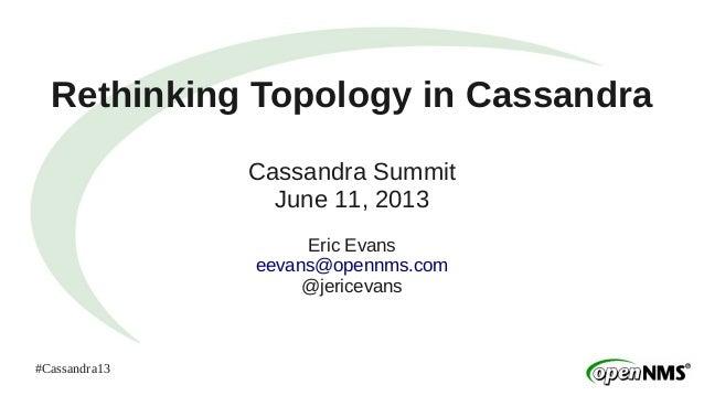 #Cassandra13Rethinking Topology in CassandraCassandra SummitJune 11, 2013Eric Evanseevans@opennms.com@jericevans