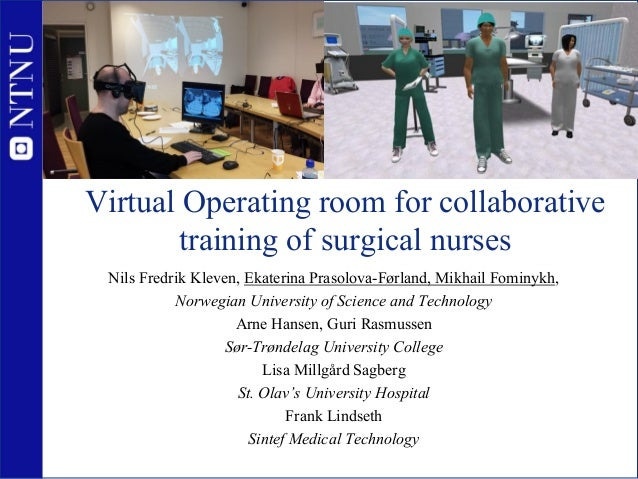 Collaborative Teaching Courses : Virtual operating room for collaborative training of