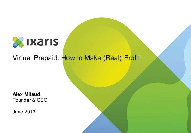 Virtual Prepaid: How to Make (Real) ProfitAlex MifsudFounder & CEOJune 2013