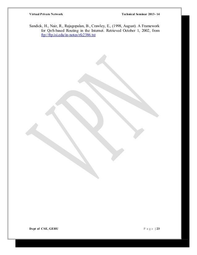 report file on virtual private network vpn