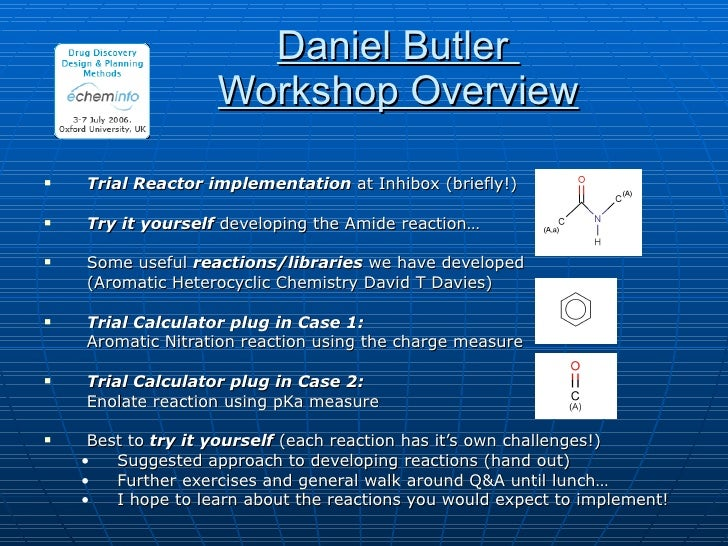 <ul><li>Trial Reactor implementation  at Inhibox (briefly!) </li></ul><ul><li>Try it yourself  developing the Amide reacti...