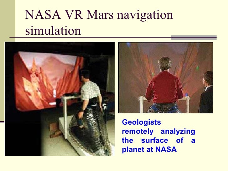 NASA VR Mars navigation simulation Geologists  remotely analyzing the surface of a planet at NASA