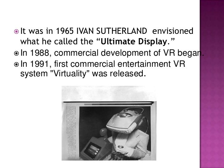  Itis basically a feeling of involvement of  the user in the virtual world . The user has no visual contact with the  ph...