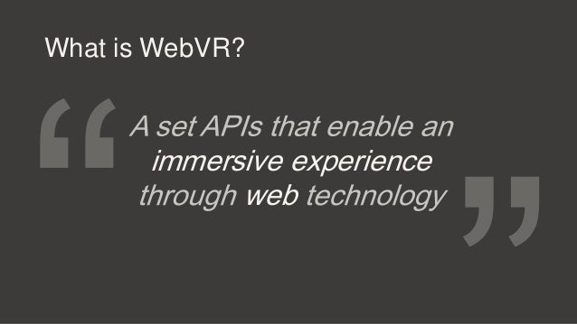 Virtual Reality on the Web Slide 3