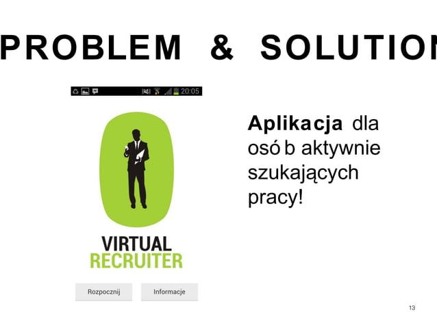 PROBLEM & SOLUTION         Aplikacja dla         osó b aktywnie         szukających         pracy!                        ...
