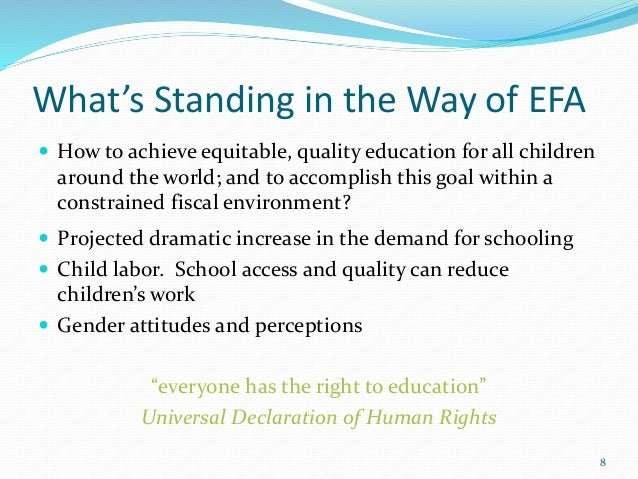 the real solution to quality education Current challenges in basic science education  education programme of the section of  this right to universal access to quality science education has been.