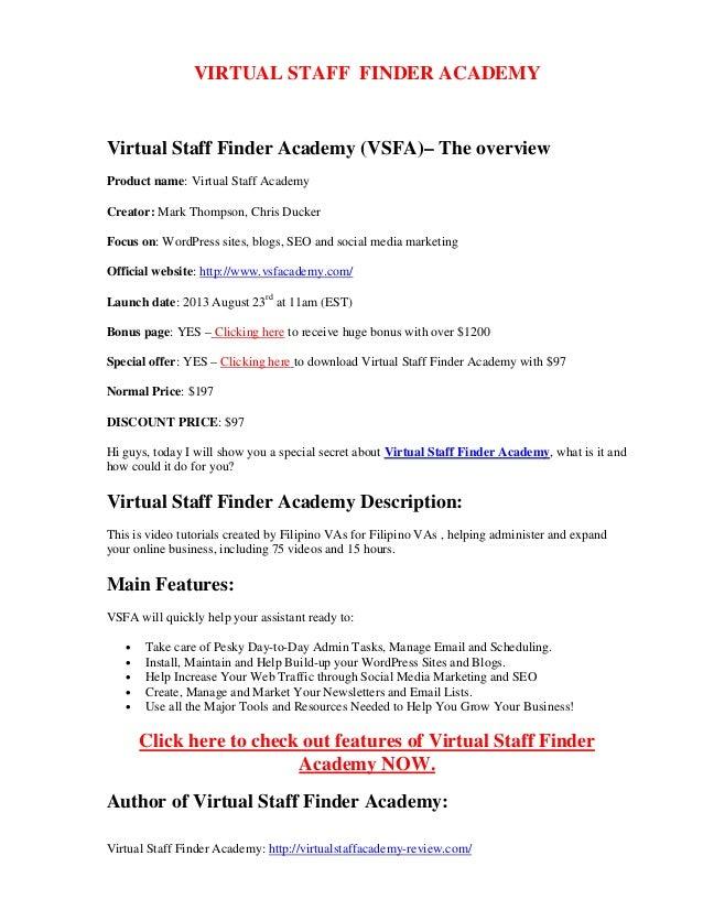 Virtual Staff Finder Academy: http://virtualstaffacademy-review.com/ VIRTUAL STAFF FINDER ACADEMY Virtual Staff Finder Aca...