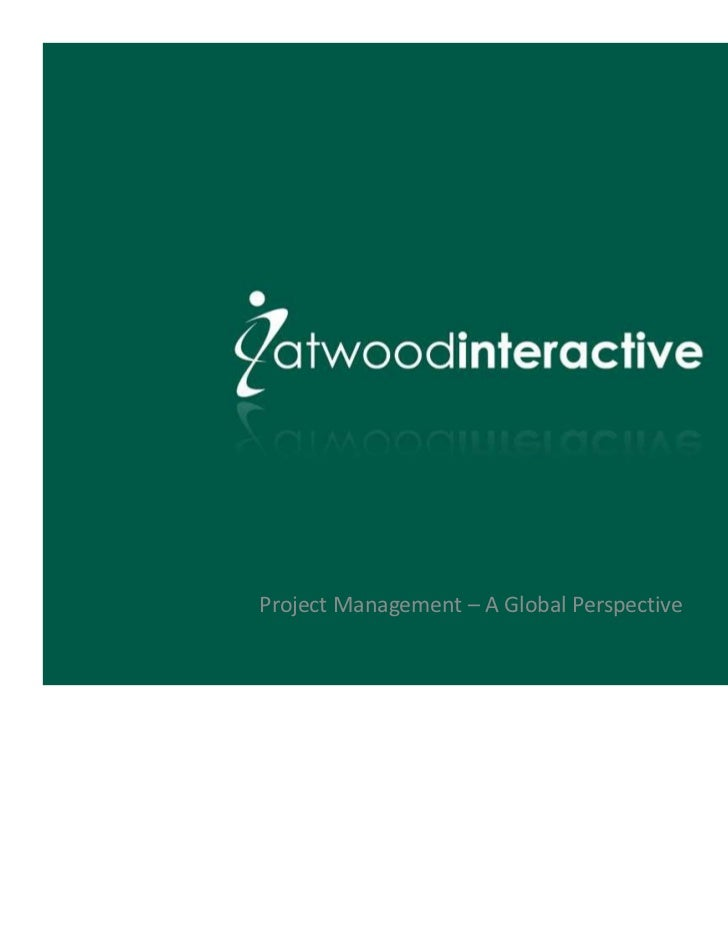 Project Management – A Global Perspective