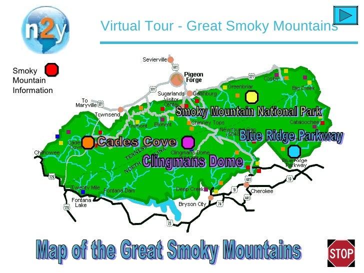 Virtual Tour Smoky Mountains - Us mountain ranges map smokey mountain