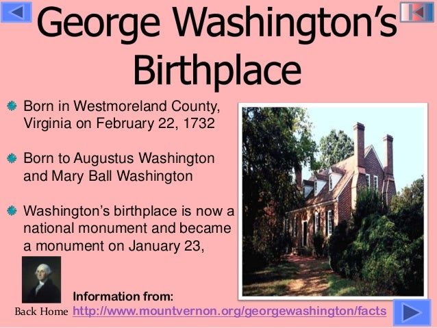 Image result for george washington is born