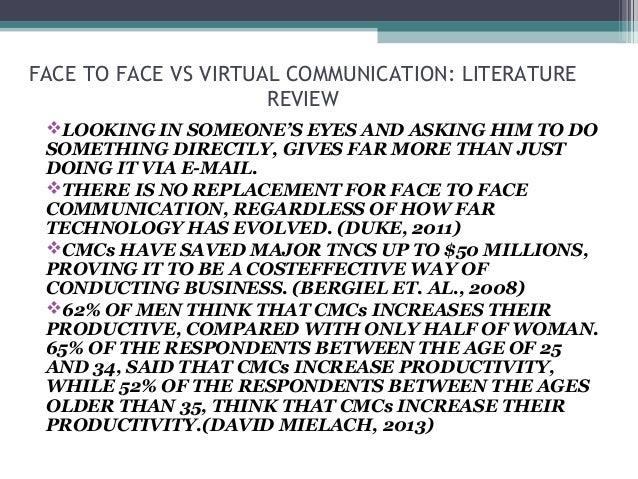 Virtual vs. Face-to-Face Communication
