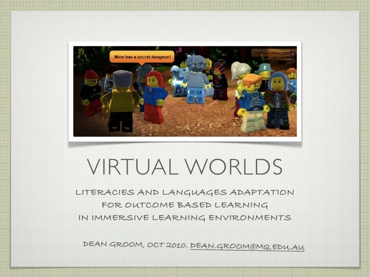 Virtual worlds   literacies for learning