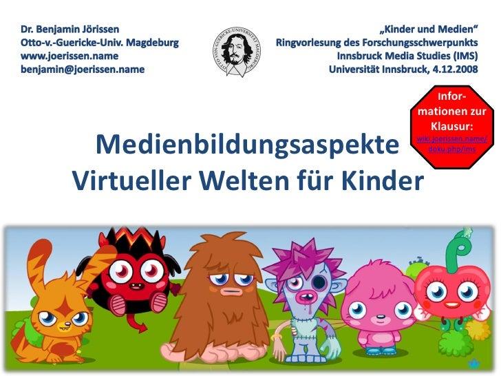 Infor-                            mationen zur                             Klausur:   Medienbildungsaspekte    wiki.joeris...
