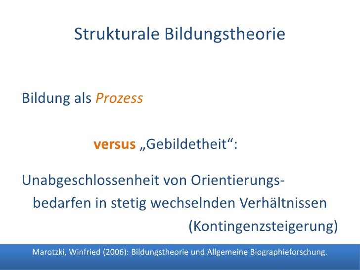 Dr. Benjamin Jörissen – www.joerissen.name                 Strukturale Bildungstheorie   Bildung als Prozess              ...
