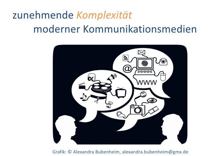 Dr. Benjamin Jörissen – www.joerissen.name     zunehmende Komplexität     moderner Kommunikationsmedien            Grafik:...