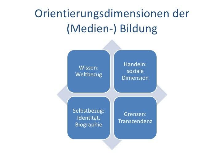 Dr. Benjamin Jörissen – www.joerissen.name    Orientierungsdimensionen der       (Medien-) Bildung                        ...