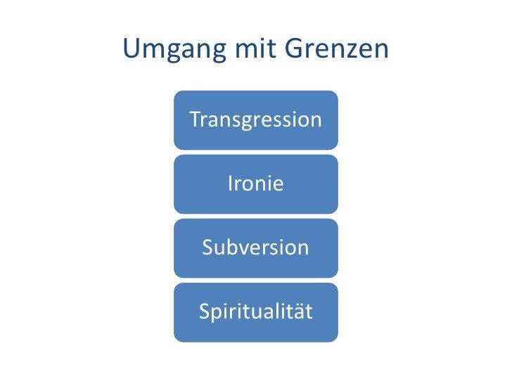 Dr. Benjamin Jörissen – www.joerissen.name     Umgang mit Grenzen      Transgression                 Ironie        Subvers...