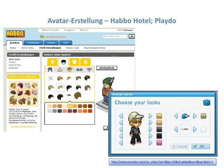 Dr. Benjamin Jörissen – www.joerissen.name     Avatar-Erstellung – Habbo Hotel; Playdo                                    ...