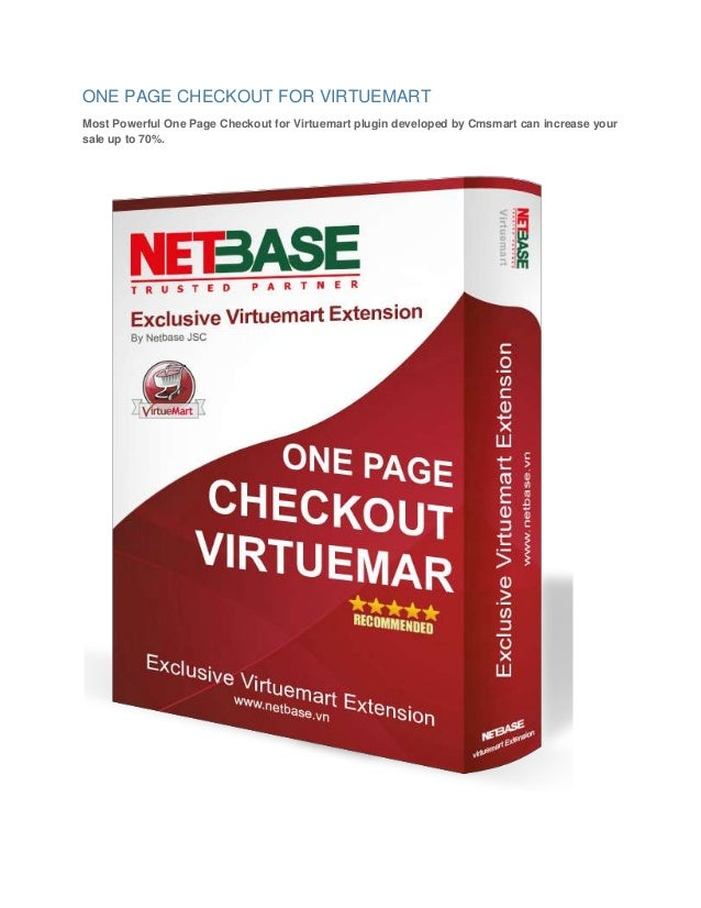 ONE PAGE CHECKOUT FOR VIRTUEMART Most Powerful One Page Checkout for Virtuemart plugin developed by Cmsmart can increase y...