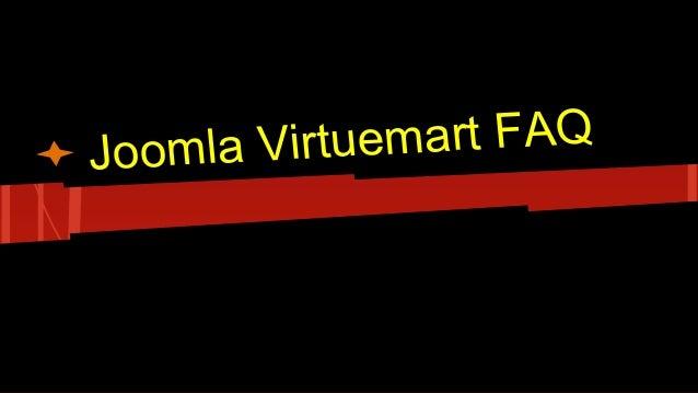Joomla Virtuemart FAQ