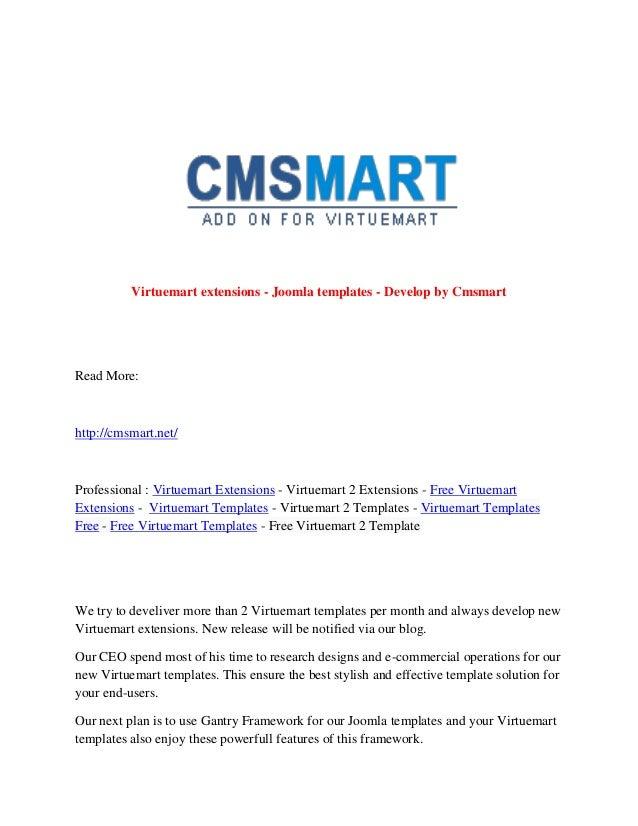 Virtuemart extensions - Joomla templates - Develop by Cmsmart Read More: http://cmsmart.net/ Professional : Virtuemart Ext...