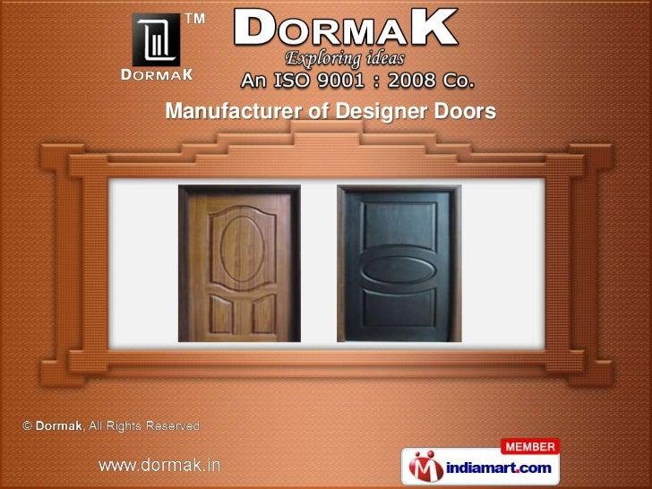 Manufacturer of Designer Doors