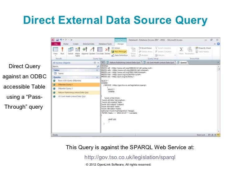 Exploiting Linked (Open) Data via Microsoft Access
