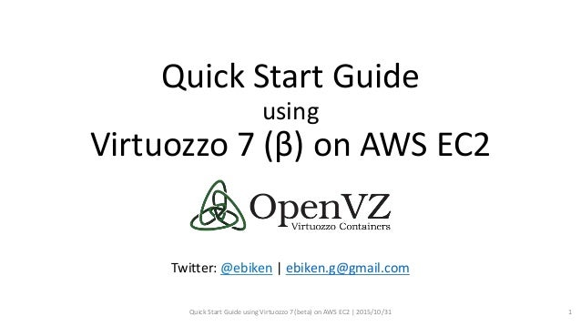 Quick Start Guide using Virtuozzo 7 (β) on AWS EC2