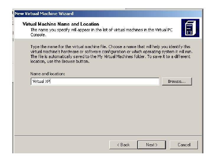 Step by step Virtual PC installation Slide 3