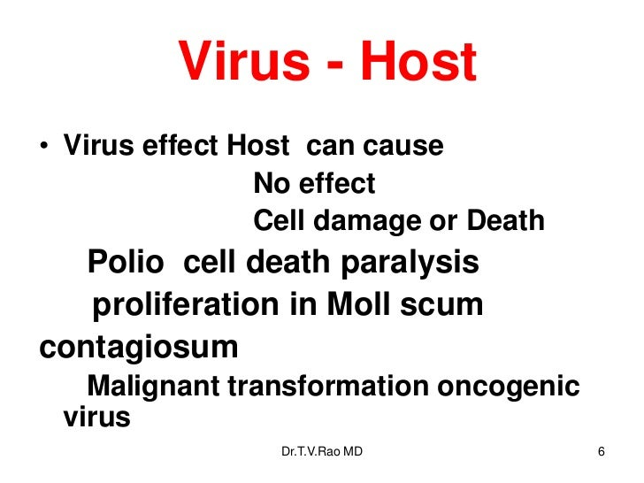 Virus and Host Interactions