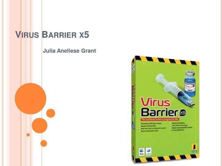 VIRUS BARRIER X5      Julia Aneliese Grant