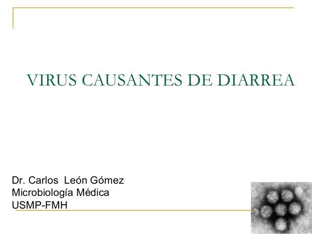Dr. Carlos  León Gómez Microbiología Médica USMP-FMH VIRUS CAUSANTES DE DIARREA