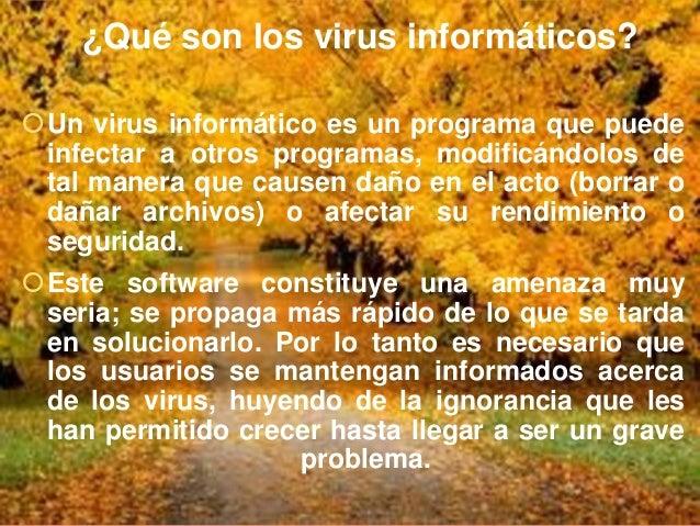 ¿Cuáles son los principales tipos de virus para PC? Virus de Boot  Time Bomb o Bomba de Tiempo Lombrices, worm o gusano...