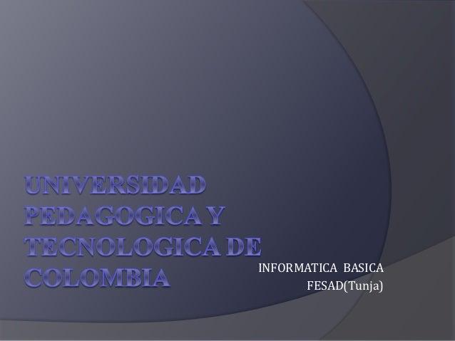 INFORMATICA BASICA FESAD(Tunja)