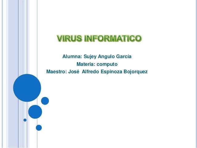 Alumna: Sujey Angulo García Materia: computo Maestro: José Alfredo Espinoza Bojorquez