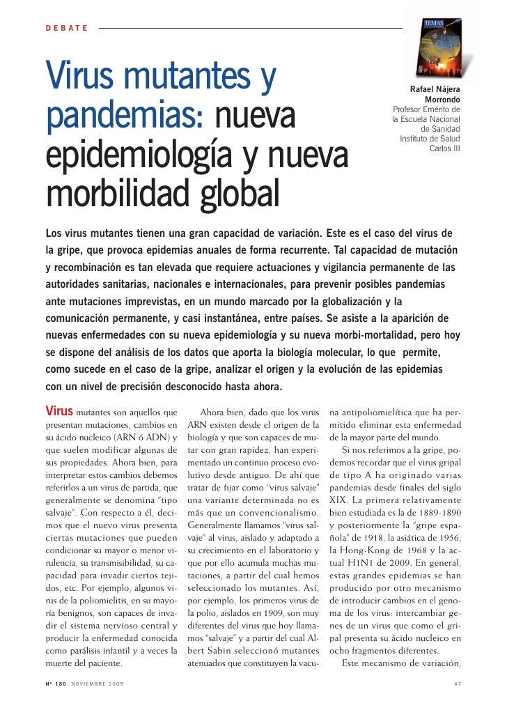 Virus mutantes y DEBATE     pandemias: nueva                                                                              ...