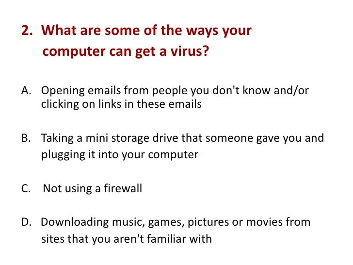 Virus related questions....