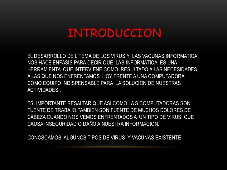 Virus y vacunas informaticas Slide 2