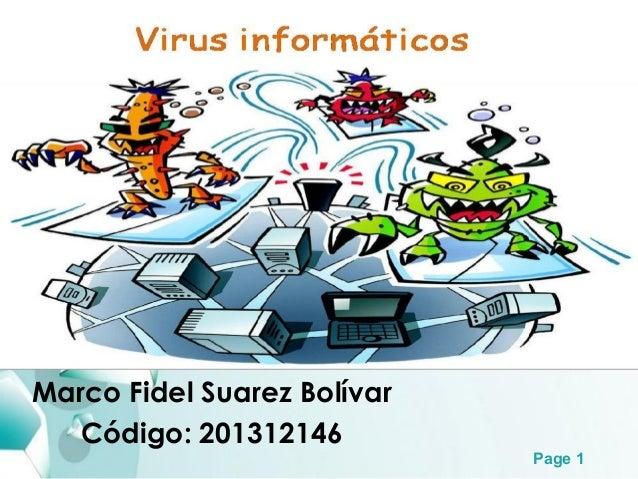 Page 1 Marco Fidel Suarez Bolívar Código: 201312146