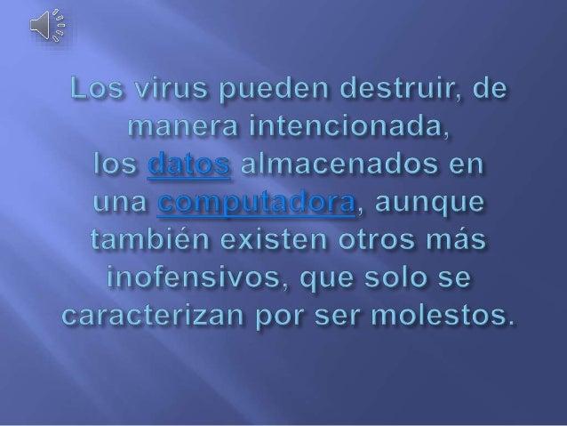 Virus y vacunas informáticas Slide 3
