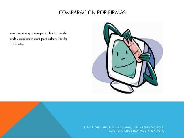 COMPARACIÓN DE FIRMAS DE ARCHIVO son vacunas que comparan las firmas delos atributos guardados entu equipo. T I P O S D E ...