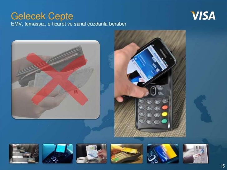 Gelecek CepteEMV, temassız, e-ticaret ve sanal cüzdanla beraber                                                     15