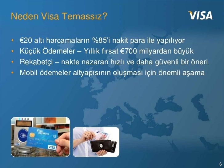 Neden Visa Temassız?•   €20 altı harcamaların %85'i nakit para ile yapılıyor•   Küçük Ödemeler – Yıllık fırsat €700 milyar...