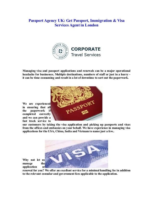 Fast track passport renewal