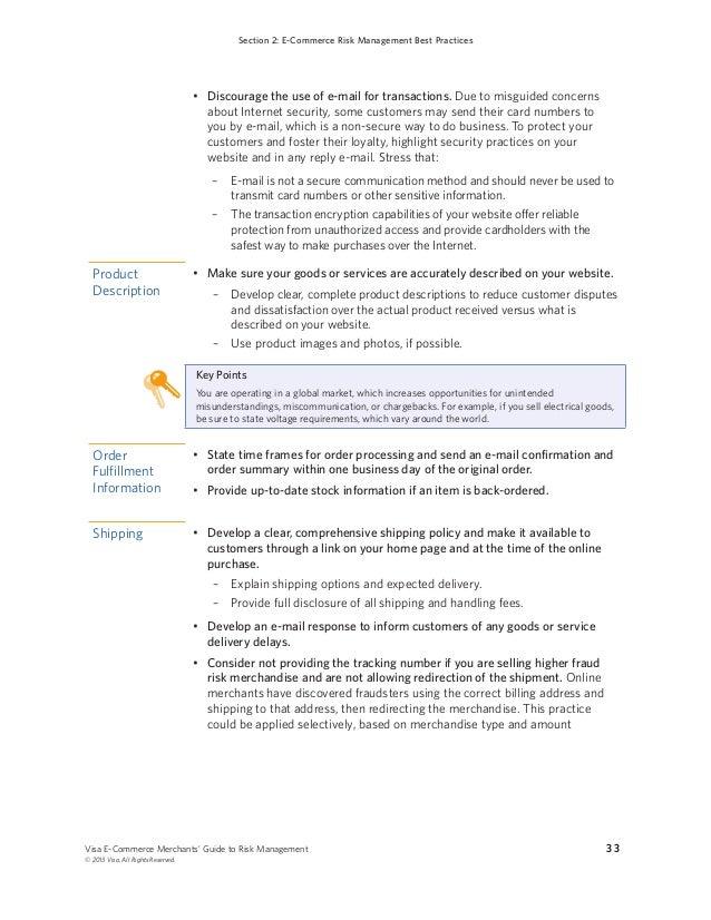 Visa risk management guide ecommerce visa e commerce merchants platinumwayz