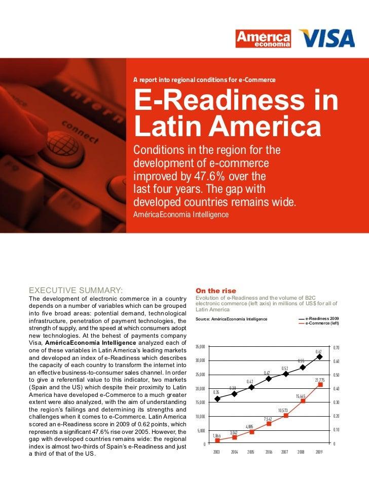 A report into regional conditions for e-Commerce                                       E-Readiness in                     ...