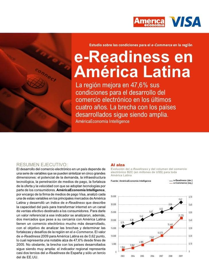 Estudio sobre las condiciones para el e-Commerce en la región                                         e-Readiness en      ...