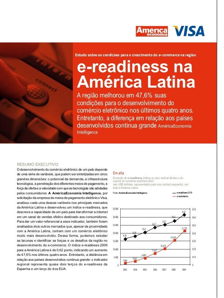 Estudo sobre as condições para o crescimento do e-commerce na região                                           e-readiness...